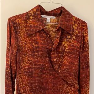 Diane Von Furstenberg Dresses - COPY - Stretchy silk DVF dress size 6